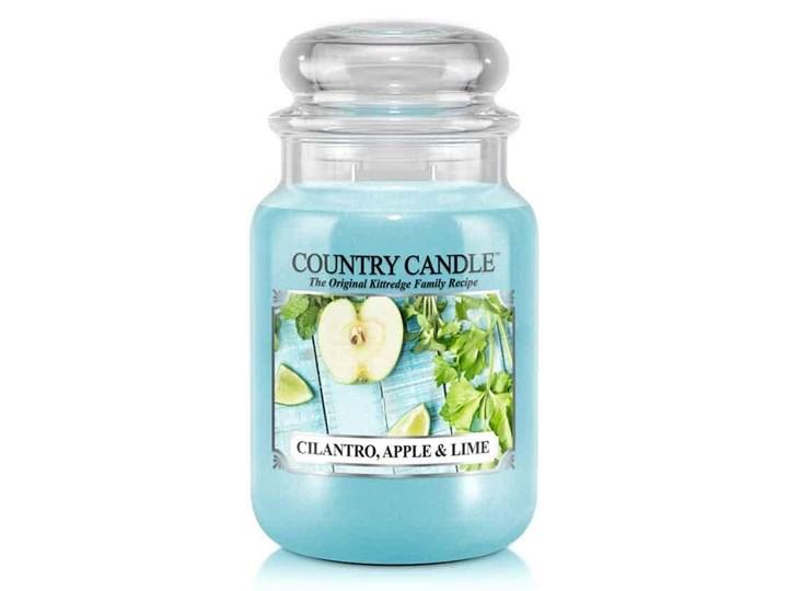 Country Candle, Cilantro, Apple & Lime, świeca zapachowa, duży słoik, 2 knoty
