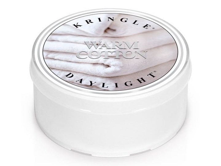 Kringle Candle, Warm Cotton, świeca zapachowa daylight, 1 knot