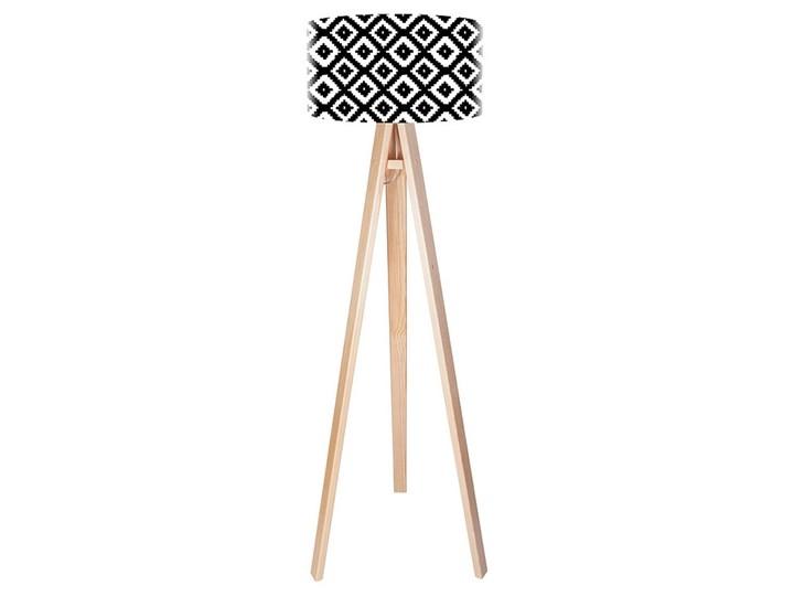 Lampa podłogowa MACODESIGN Czarne romby tripod-foto-401p, 60 W Tworzywo sztuczne Tworzywo sztuczne Tworzywo sztuczne