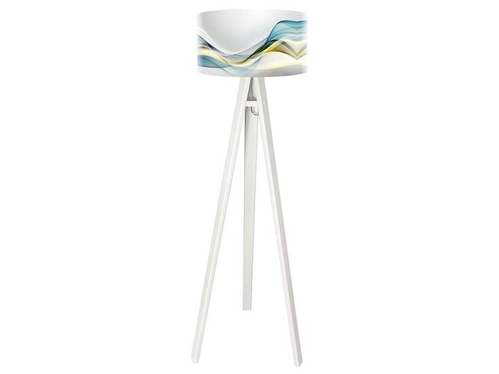 Lampa podłogowa MACODESIGN Magia pasteli tripod-foto-051p-w, 60 W Tworzywo sztuczne Tworzywo sztuczne Lampa LED Tworzywo sztuczne
