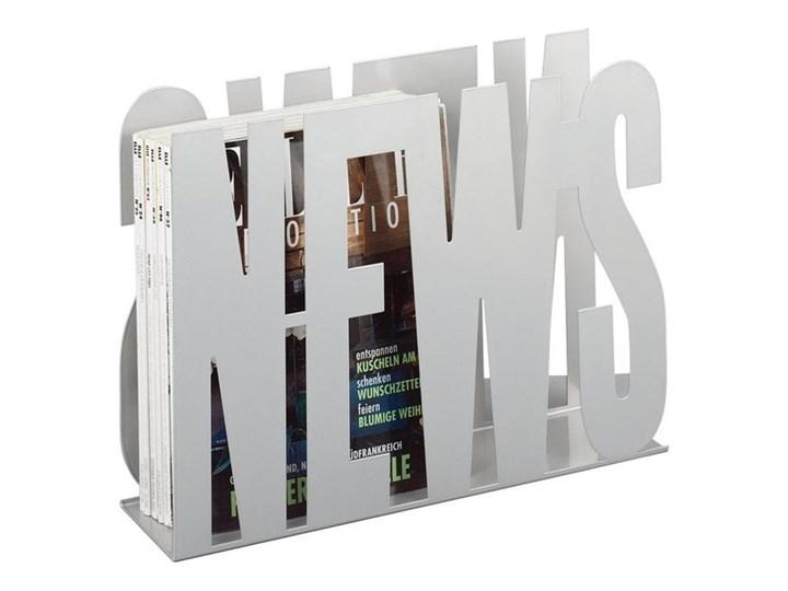 Metalowy gazetnik ZELLER News, biały Styl nowoczesny