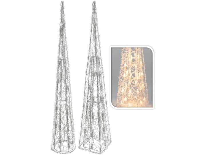 Choinka z lampkami ledowymi o podstawie koła, 90 cm Choinki Wzór