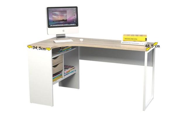Chłodny biurko narożne na wymiar - pomysły, inspiracje z homebook DS93