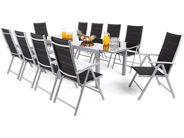 Meble ogrodowe aluminiowe Ontario 180+60 cm Silver / Black Ibiza Silver / Black 10+1 Aluminium Stoły z krzesłami Aluminium Zawartość zestawu Z krzesłem Zawartość zestawu Ze stołem