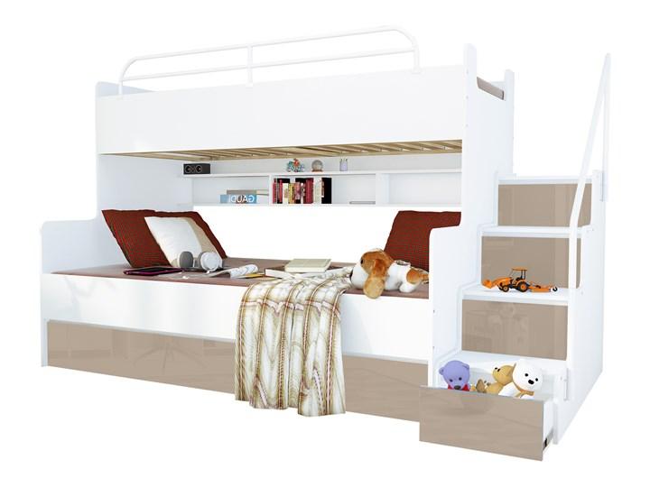 łóżko Piętrowe Magnum Beta Lux 3 Osobowe Beżowy Połysk