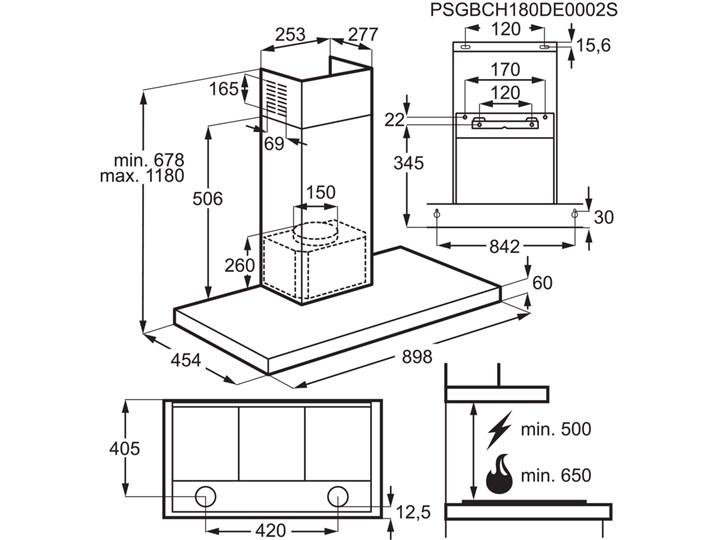 Okap ELECTROLUX LFT769X Szerokość 89,8 cm Sterowanie Elektroniczne Okap przyścienny Okap kominowy Kategoria Okapy