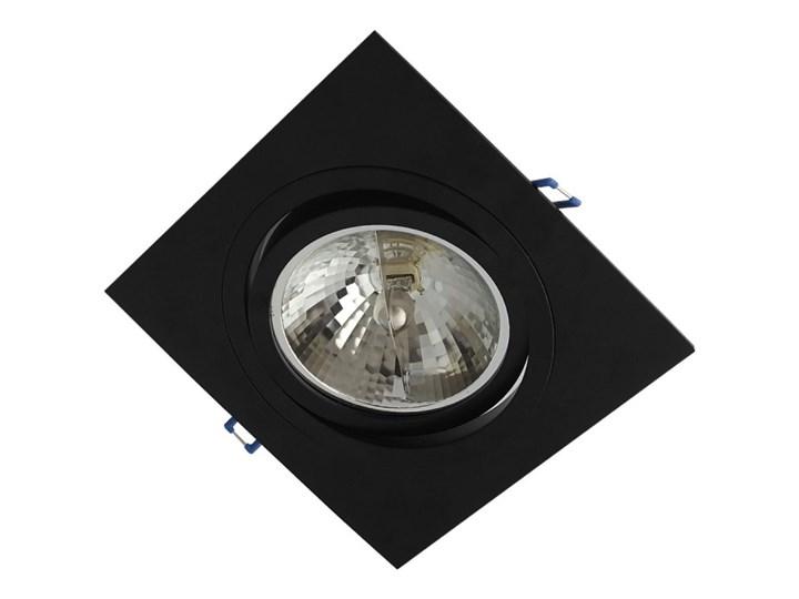 Pojedyncza ruchoma podtynkowa oprawa ES111 AR111 QR111 czarna Oprawa ruchoma Oprawa stropowa Kwadratowe Kolor Czarny