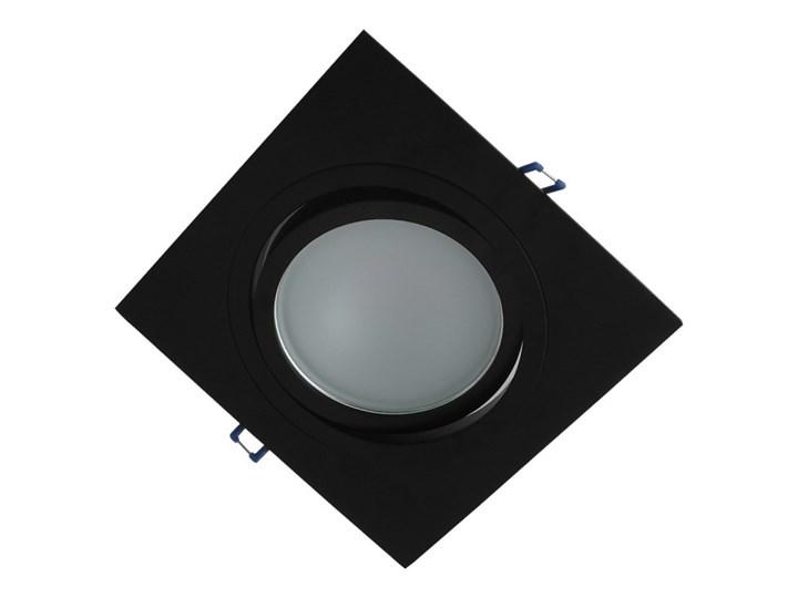 Pojedyncza ruchoma podtynkowa oprawa ES111 AR111 QR111 czarna Kolor Czarny Kwadratowe Oprawa ruchoma Oprawa stropowa Kategoria Oprawy oświetleniowe