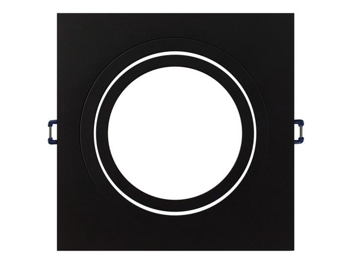 Pojedyncza ruchoma podtynkowa oprawa ES111 AR111 QR111 czarna Kwadratowe Oprawa stropowa Oprawa ruchoma Kolor Czarny