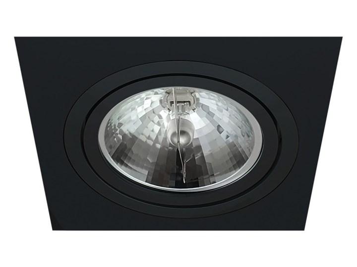 Pojedyncza ruchoma podtynkowa oprawa ES111 AR111 QR111 czarna Oprawa stropowa Oprawa ruchoma Kwadratowe Kolor Czarny