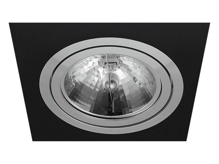 Pojedyncza ruchoma podtynkowa oprawa ES111 AR111 QR111 czarna alu Kolor Czarny Oprawa stropowa Kwadratowe Oprawa ruchoma Kategoria Oprawy oświetleniowe