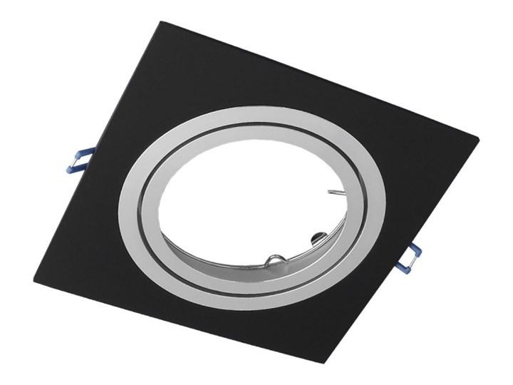 Pojedyncza ruchoma podtynkowa oprawa ES111 AR111 QR111 czarna alu Kwadratowe Kolor Czarny Oprawa ruchoma Oprawa stropowa Kategoria Oprawy oświetleniowe