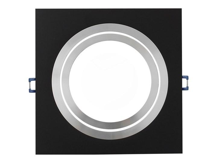 Pojedyncza ruchoma podtynkowa oprawa ES111 AR111 QR111 czarna alu Oprawa ruchoma Kolor Czarny Oprawa stropowa Kwadratowe Kategoria Oprawy oświetleniowe