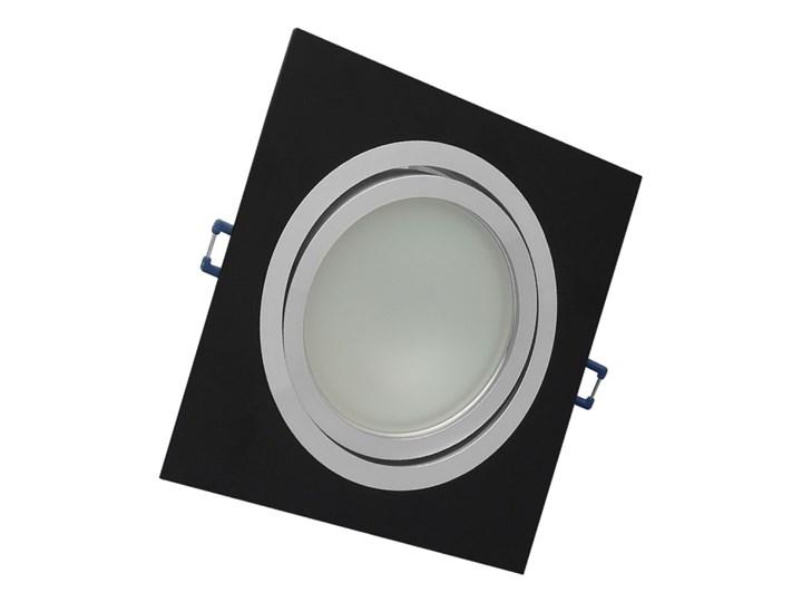 Pojedyncza ruchoma podtynkowa oprawa ES111 AR111 QR111 czarna alu Oprawa stropowa Kolor Czarny Kwadratowe Oprawa ruchoma Kategoria Oprawy oświetleniowe
