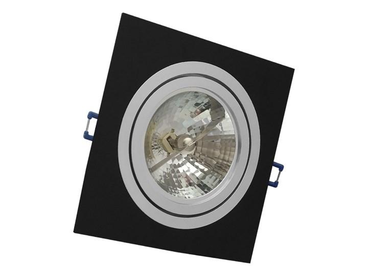 Pojedyncza ruchoma podtynkowa oprawa ES111 AR111 QR111 czarna alu Oprawa ruchoma Kwadratowe Kolor Czarny Oprawa stropowa Kategoria Oprawy oświetleniowe