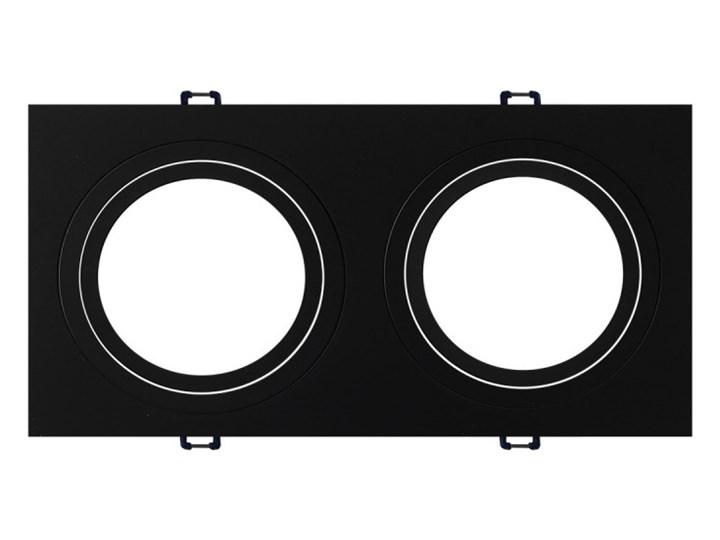 Podwójna ruchoma podtynkowa oprawa ES111 AR111 QR111 czarna GU10 G53 Oprawa stropowa Oprawa halogenowa Kwadratowe Kolor Czarny Oprawa ruchoma Kategoria Oprawy oświetleniowe