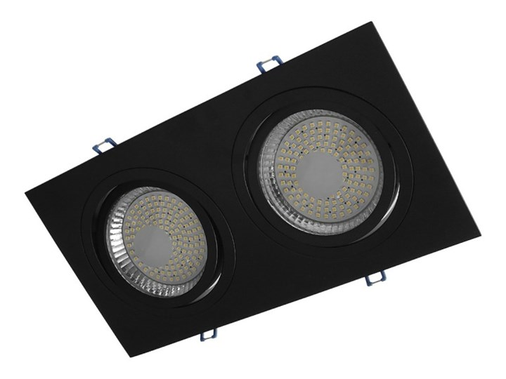 Podwójna ruchoma podtynkowa oprawa ES111 AR111 QR111 czarna GU10 G53 Oprawa ruchoma Kwadratowe Oprawa stropowa Kolor Czarny Oprawa halogenowa Kategoria Oprawy oświetleniowe