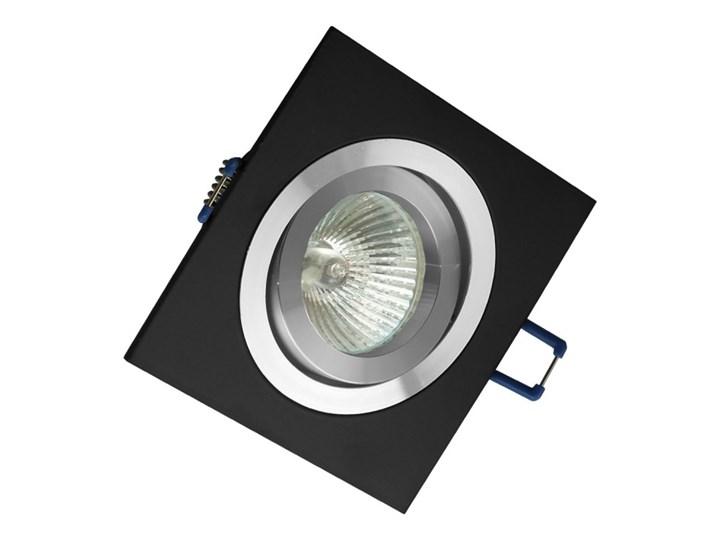 Kwadratowa sufitowa ruchoma podtynkowa oprawa MR16 GU10 czarna alu Kolor Czarny Kwadratowe Oprawa stropowa Oprawa ruchoma Oprawa halogenowa Kategoria Oprawy oświetleniowe