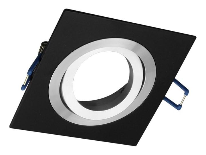 Kwadratowa sufitowa ruchoma podtynkowa oprawa MR16 GU10 czarna alu Oprawa stropowa Kolor Czarny Kwadratowe Oprawa ruchoma Oprawa halogenowa Kategoria Oprawy oświetleniowe
