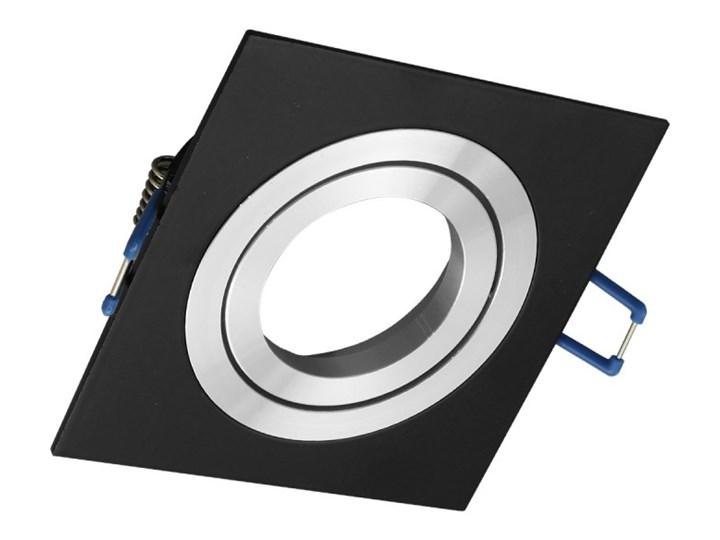 Kwadratowa sufitowa ruchoma podtynkowa oprawa MR16 GU10 czarna alu Oprawa ruchoma Oprawa halogenowa Kwadratowe Kolor Czarny Oprawa stropowa Kategoria Oprawy oświetleniowe