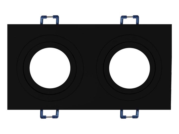 Podwójna sufitowa ruchoma podtynkowa oprawa MR16 GU10 G53 czarna Prostokątne Oprawa stropowa Kolor Czarny Oprawa halogenowa Oprawa ruchoma Kategoria Oprawy oświetleniowe