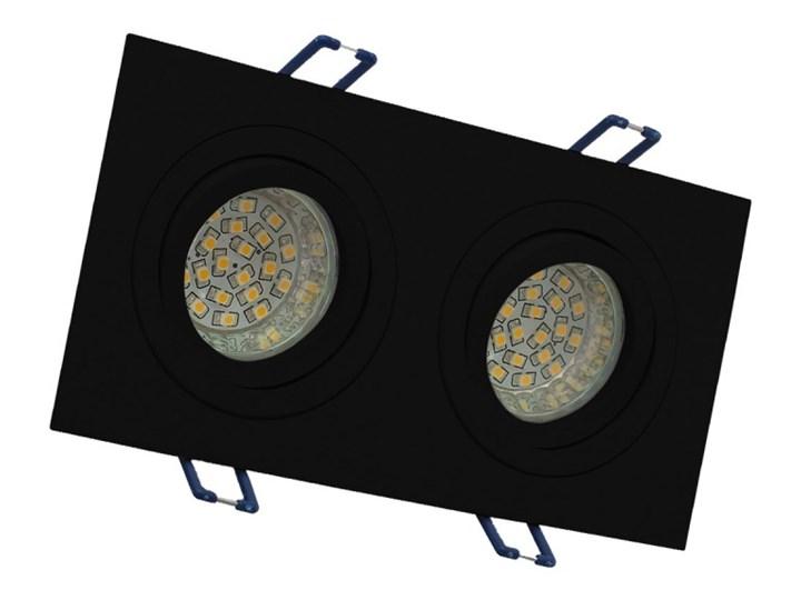 Podwójna sufitowa ruchoma podtynkowa oprawa MR16 GU10 G53 czarna Oprawa halogenowa Oprawa ruchoma Prostokątne Oprawa stropowa Kolor Czarny Kategoria Oprawy oświetleniowe