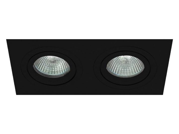 Podwójna sufitowa ruchoma podtynkowa oprawa MR16 GU10 G53 czarna Oprawa stropowa Oprawa ruchoma Oprawa halogenowa Prostokątne Kolor Czarny Kategoria Oprawy oświetleniowe