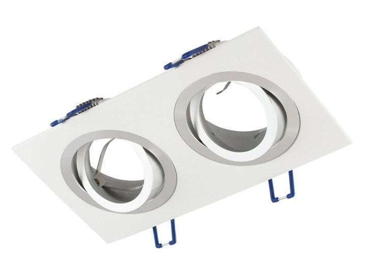 Podwójna sufitowa ruchoma podtynkowa oprawa MR16 GU10 G53 biała alu Oprawa stropowa Oprawa halogenowa Oprawa ruchoma Prostokątne Kolor Biały Kategoria Oprawy oświetleniowe