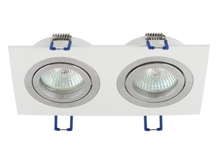 Podwójna sufitowa ruchoma podtynkowa oprawa MR16 GU10 G53 biała alu Oprawa ruchoma Prostokątne Kolor Biały Oprawa halogenowa Oprawa stropowa Kategoria Oprawy oświetleniowe