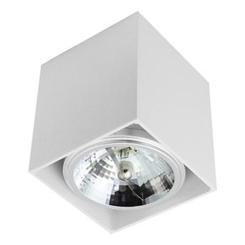 Sufitowa oprawa natynkowa kwadrat QR111 aluminium ruchoma biała HDL111