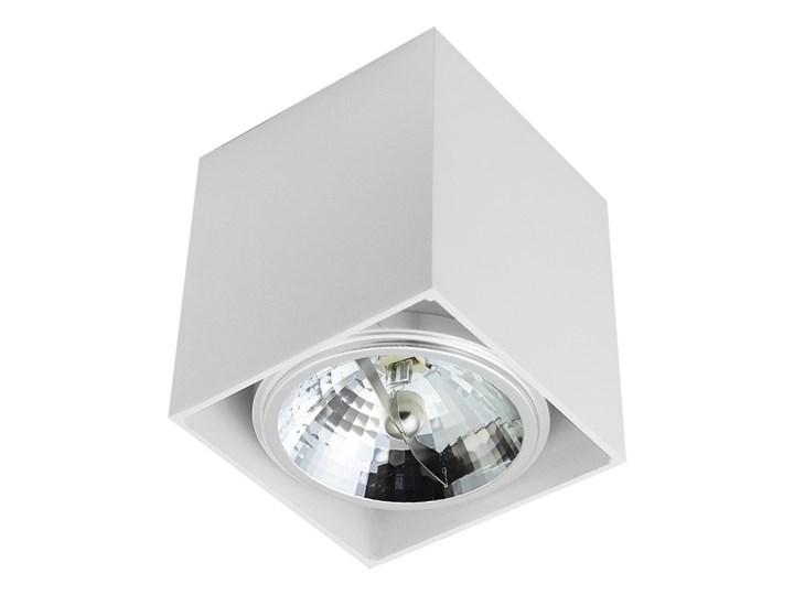 Sufitowa oprawa natynkowa kwadrat QR111 aluminium ruchoma biała HDL111 Oprawa ruchoma Kwadratowe Oprawa stropowa Oprawa halogenowa Kolor Biały