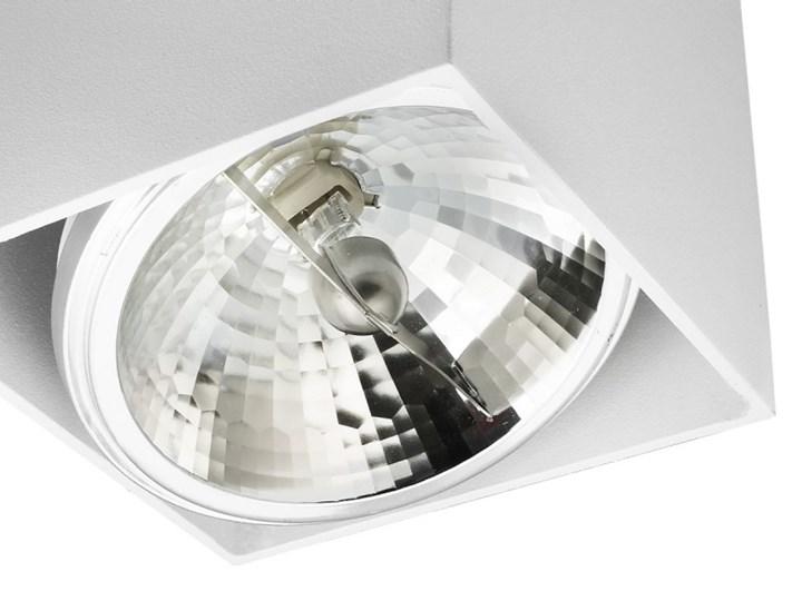 Sufitowa oprawa natynkowa kwadrat QR111 aluminium ruchoma biała HDL111 Kwadratowe Oprawa halogenowa Oprawa ruchoma Oprawa stropowa Kolor Biały Kategoria Oprawy oświetleniowe