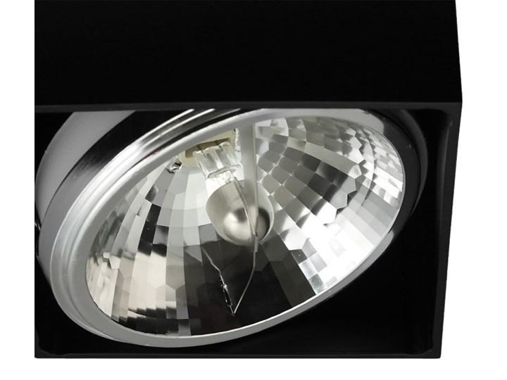 Sufitowa oprawa natynkowa kwadrat QR111 aluminium ruchoma czarna HDL111 Oprawa stropowa Oprawa ruchoma Kolor Czarny Oprawa halogenowa Kwadratowe Kategoria Oprawy oświetleniowe