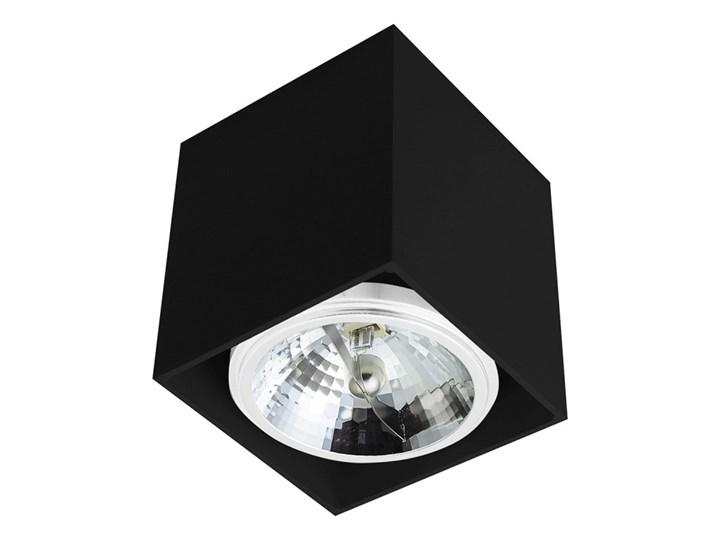 Sufitowa oprawa natynkowa kwadrat QR111 aluminium ruchoma czarna HDL111 Oprawa stropowa Oprawa halogenowa Kwadratowe Oprawa ruchoma Kolor Czarny