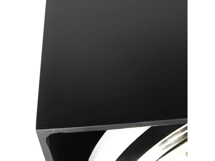 Sufitowa oprawa natynkowa kwadrat QR111 aluminium ruchoma czarna HDL111 Oprawa ruchoma Oprawa halogenowa Kwadratowe Oprawa stropowa Kolor Czarny