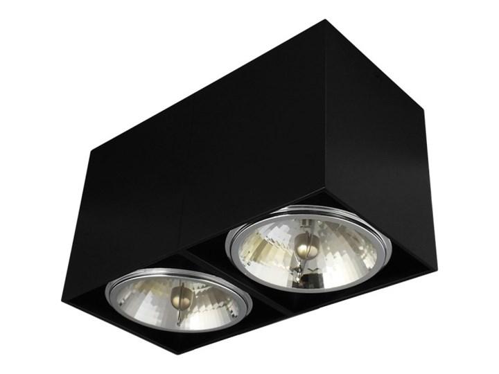 Oprawa natynkowa podwójna prostokątna 2x QR111 aluminium ruchoma czarna Kolor Czarny Oprawa halogenowa Prostokątne Oprawa stropowa Oprawa ruchoma Kategoria Oprawy oświetleniowe