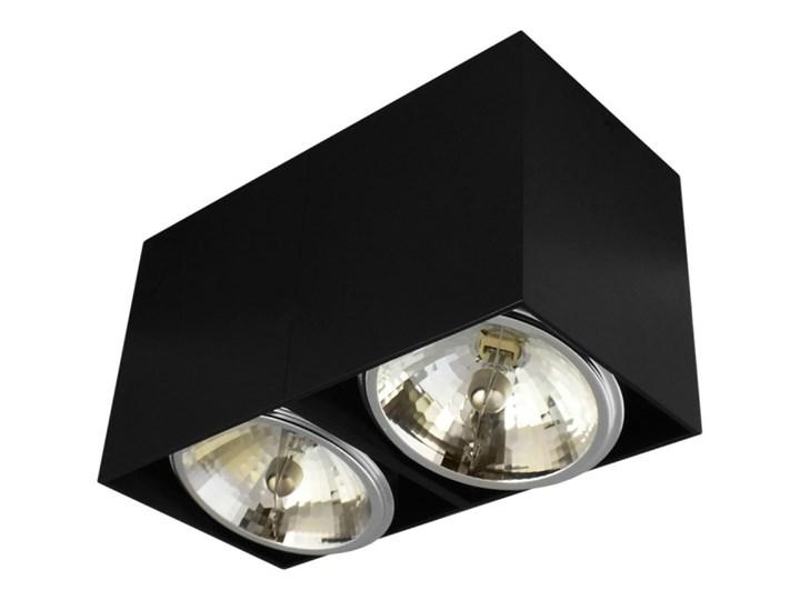 Oprawa natynkowa podwójna prostokątna 2x QR111 aluminium ruchoma czarna Oprawa stropowa Oprawa ruchoma Prostokątne Oprawa halogenowa Kolor Czarny