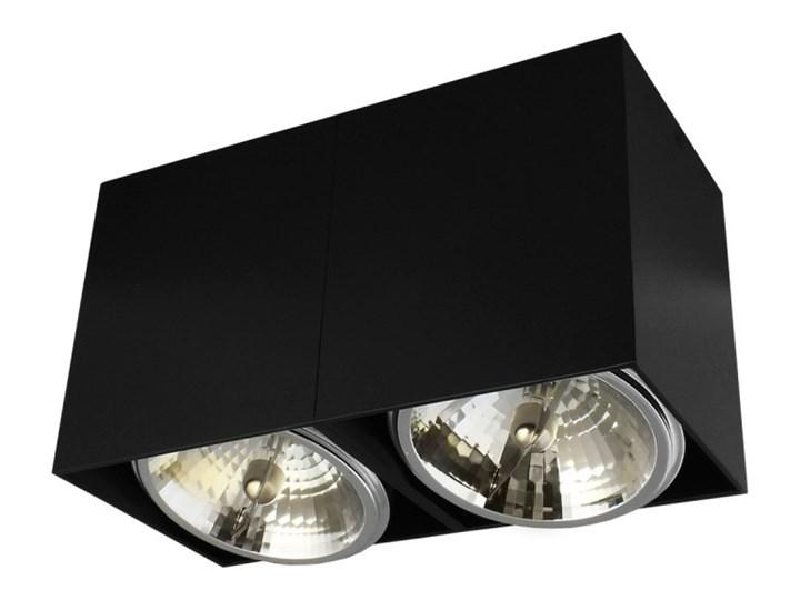 Oprawa natynkowa podwójna prostokątna 2x QR111 aluminium ruchoma czarna Prostokątne Oprawa halogenowa Oprawa ruchoma Kolor Czarny Oprawa stropowa Kategoria Oprawy oświetleniowe