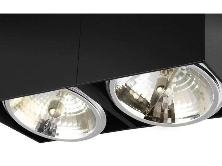 Oprawa natynkowa podwójna prostokątna 2x QR111 aluminium ruchoma czarna Oprawa ruchoma Prostokątne Oprawa halogenowa Oprawa stropowa Kolor Czarny Kategoria Oprawy oświetleniowe