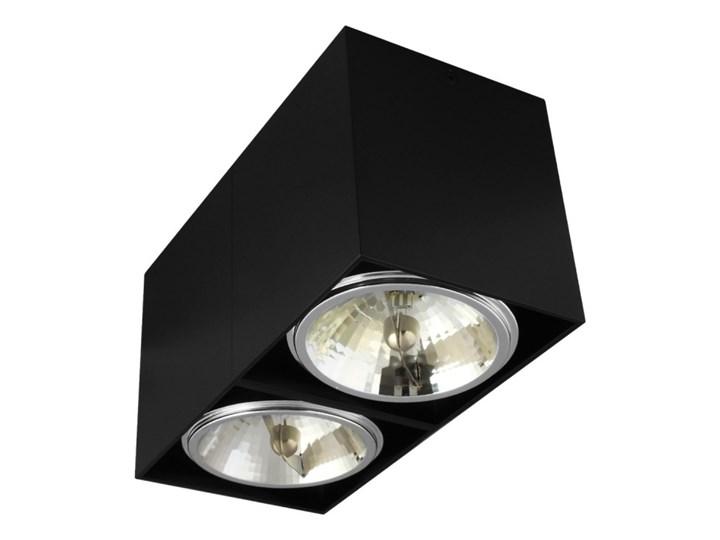 Oprawa natynkowa podwójna prostokątna 2x QR111 aluminium ruchoma czarna Prostokątne Oprawa ruchoma Oprawa stropowa Oprawa halogenowa Kolor Czarny