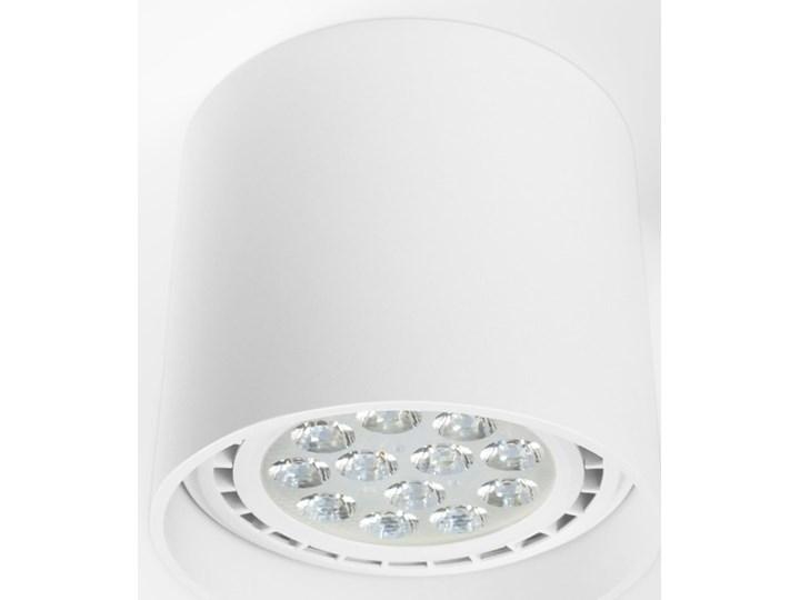 Oprawa natynkowa okrągła GU10 ES AR111 stała biała aluminiowa do domu Oprawa halogenowa Oprawa stropowa Okrągłe Kolor Biały Kategoria Oprawy oświetleniowe