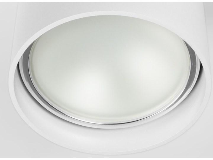 Oprawa natynkowa okrągła GU10 ES AR111 stała biała aluminiowa do domu Oprawa halogenowa Oprawa stropowa Kolor Biały Okrągłe Kategoria Oprawy oświetleniowe