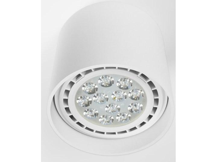 Oprawa natynkowa okrągła GU10 ES AR111 stała biała aluminiowa do domu Oprawa stropowa Okrągłe Oprawa halogenowa Kolor Biały