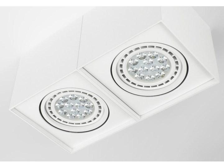 Podwójna oprawa natynkowa ruchoma na sufit ES AR111 2x GU10 biała mat Oprawa halogenowa Oprawa ruchoma Prostokątne Oprawa stropowa Kolor Biały Kategoria Oprawy oświetleniowe