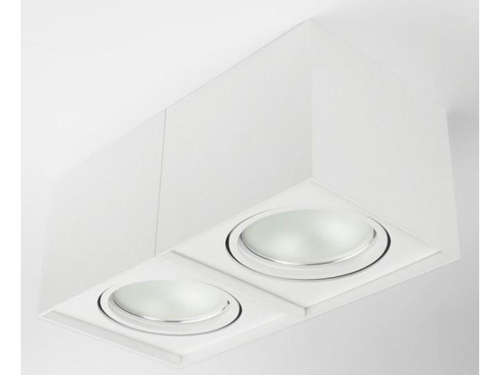 Podwójna oprawa natynkowa ruchoma na sufit ES AR111 2x GU10 biała mat Oprawa halogenowa Oprawa ruchoma Prostokątne Kolor Biały Oprawa stropowa Kategoria Oprawy oświetleniowe