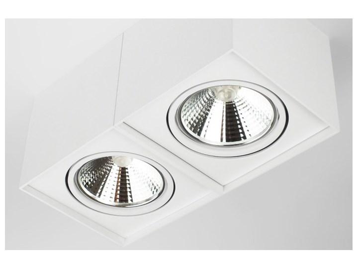 Podwójna oprawa natynkowa ruchoma na sufit ES AR111 2x GU10 biała mat Prostokątne Oprawa halogenowa Oprawa ruchoma Oprawa stropowa Kolor Biały
