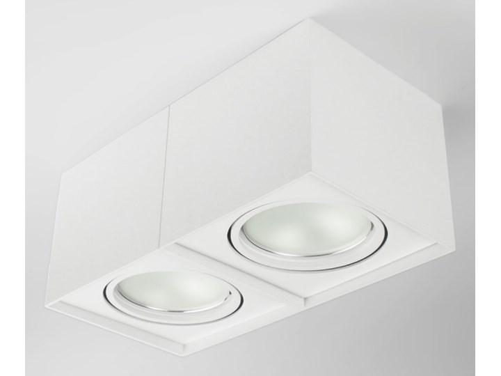 Podwójna oprawa natynkowa ruchoma na sufit ES AR111 2x GU10 biała mat Oprawa halogenowa Oprawa ruchoma Kolor Biały Oprawa stropowa Prostokątne Kategoria Oprawy oświetleniowe
