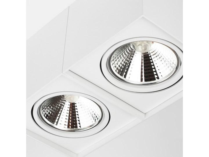 Podwójna oprawa natynkowa ruchoma na sufit ES AR111 2x GU10 biała mat Oprawa stropowa Prostokątne Oprawa halogenowa Oprawa ruchoma Kolor Biały