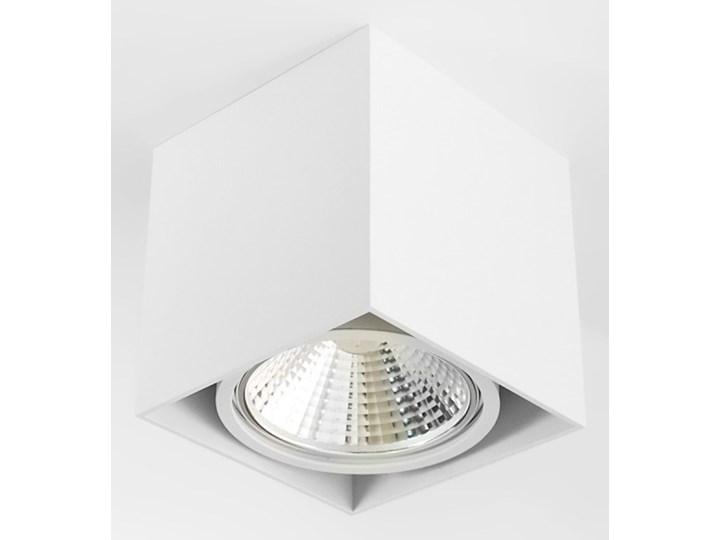 Wewnętrzna oprawa natynkowa sufitowa kwadrat AR111 GU10 biała Oprawa halogenowa Kwadratowe Oprawa stropowa Kolor Biały