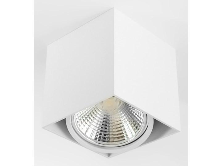 Wewnętrzna oprawa natynkowa sufitowa kwadrat AR111 GU10 biała Oprawa halogenowa Oprawa stropowa Kwadratowe Kolor Biały